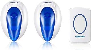 Smart Home Door Bell with Blue LED Light Forecum f007 Wireless Doorbell with 36 Songs Door Hardware US EU Plug : United States, EU