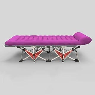 KEWEI ملاءات قابلة للطي لشخص مكتب قيلولة سرير الغداء كرسي التخييم سهل الحمل والحمل كرسي القابل للطي (اللون: A-190 * 71 * 4...