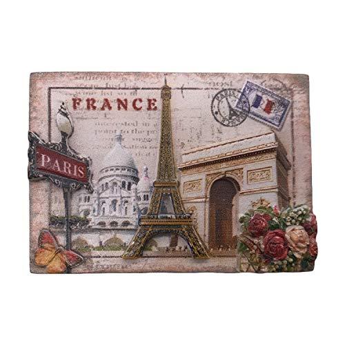 3D Paris Frankreich Kühlschrankmagnet, Touristensouvenirs, Kunstharz, magnetische Aufkleber, Kühlschrankmagnet, Heim- und Küchendekoration aus China