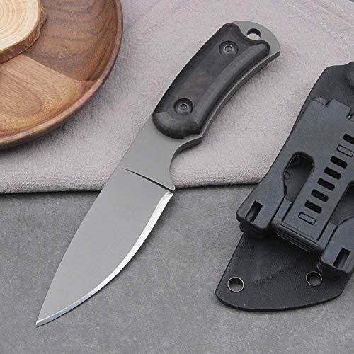 Kurzes feststehendes Messer Kleines taktisches Messer Campingmesser Gerades Messer Outdoor Jagdmesser G10 Griff mit Kydexscheide