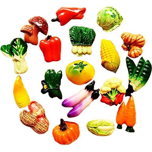 10 PCS Réfrigérateur résine Magnets Magnets - Légumes au hasard