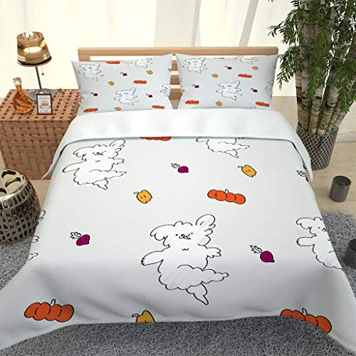 GZHMW 3D Printed Bedding Set 3 Pieces Super King 260x220cm Duvet Cover Set with 2 Pillowcases 50x75cm Microfiber Quilt Cover with Zipper Closure - Cute animal print