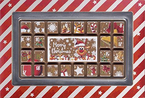 Weibler Confiserie Geschenkpackung Adventskalender Edelvollmilch Schokolade Rentier 70 g