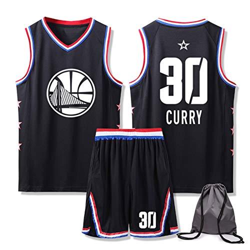 Golden State Warriors Jersey y pantalones cortos – Stephen Curry # 30 transpirable sin mangas camiseta y pantalón corto con bolsa de baloncesto personalizada, regalos para familia