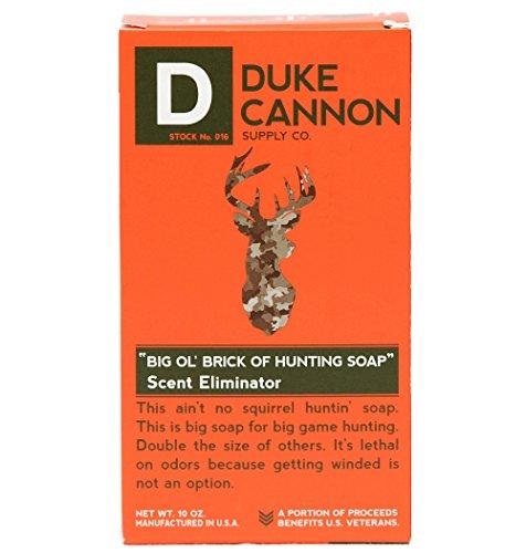 Duke Cannon Supply Co. - Big Ol  Brick of Hunting Soap, Scent Eliminator (10 oz) Superior Grade Unscented, Odor Neutralizing & Eliminating Bar Soap