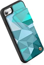 ZVEdeng iPhone 7 Wallet Case, iPhone 8 Printed Case, iPhone 8 Wallet Case, iPhone 7 Case with Card Holder, Durable and Slim, Shockproof Case with Magnetic Flip-Mixcolor