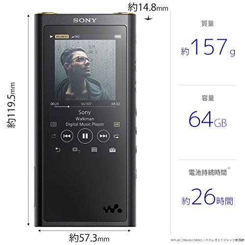 ソニーウォークマンZXシリーズ64GBNW-ZX300:Bluetooth/microSD/Φ4.4mmバランス接続/ハイレゾ対応最大26時間連続再生2017年モデルブラックNW-ZX300B