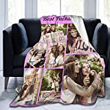 Personalized Custom Blanket with Picture Text, Customized Blankets Using Photos of Family, Friends, Dog Or Pet for Family Birthday Wedding Gift Fits Couch Sofa Bedroom Living Room - 50'x40' -7 Photo