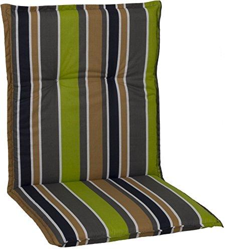 Beo Gartenmöbel Polster für Niederlehner in gestreift, dunkelgrau, braun, beige, grün und weiß