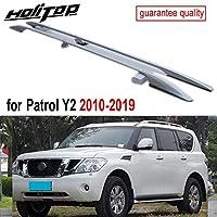 日産パトロールY22010-2019用OEルーフラックラゲッジバールーフレール、アルミニウム