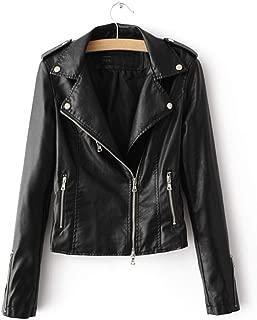 Women's Zipper Motorcycle Biker Faux Leather Jackets
