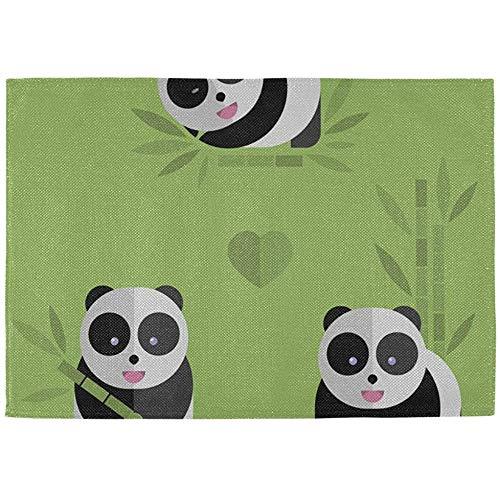 DayToy tafelmat keuken Chinese Lucky Giant Panda salontafel placemats set van 6 stoffen druk katoenen linnen
