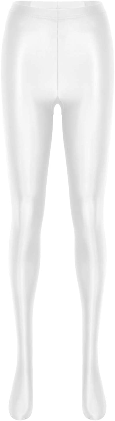 Oyolan Woemns Glossy Pantyhose Sexy Stockings Shiny Yoga Leggings Sport Fitness High Waist Tights