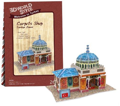 3D puzzle en trois dimensions 26 pi?ce World Series style 3D boutique de tapis W3112h (Japon import / Le paquet et le manuel sont ?crites en japonais)