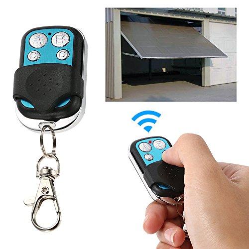 Lixada Mando Garaje Universal Mando a Distancia Metal Inalámbrico para Puerta de Garaje 4 Botones 433MHz RF Controlable