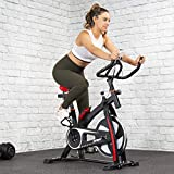 XtremepowerUS Premium Stationary Indoor Cycle Trainer Fitness Bicycle Exercise Bike Adjustable Monitor Water Bottle Holder