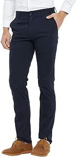 Taloyone Men's Slim-Fit Stretch Wrinkle-Resistant Flat-Front Dress Chino Pant