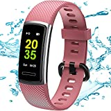 TEMINICE High-End <span class='highlight'>Fitness</span> <span class='highlight'>Trackers</span> HR, Activity <span class='highlight'>Trackers</span> Health Exercise Watch with Heart Rate and Sleep Monitor, Smart Band Calorie Counter, Step Counter, Pedometer Walking for Men Women