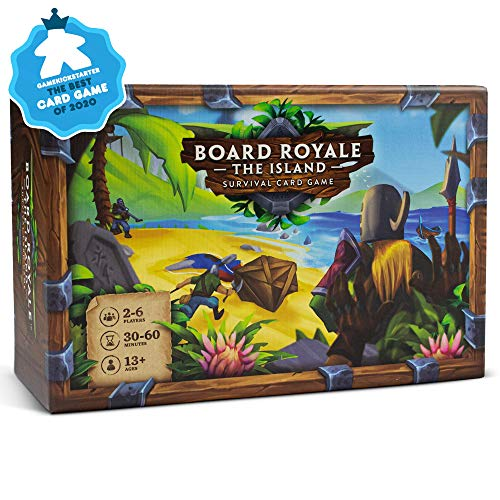Board Royale - The Island - Base Game - Award Winning Competitive Survival Card Game for Friends and Family