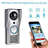 Wireless Video Doorbell,Wireless WiFi Remote 10.0 MP Piexl Unlock Rainproof Night Vision Enabled Intercom Door Phone by DOHAOOE