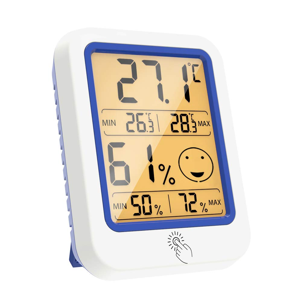 ETHMEAS Temperature and 55% OFF Humidity 2021 Hygrometer Gauge Digital Indoo