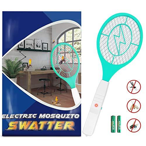 Zenoplige Elektrische Fliegenklatsche,Insektenvernichter mit Herausnehmbaren Batterien Insekten Mörder Frei von Giftstoffen und Gerüchen Ideal für Drinnen und Draußen (Grün)
