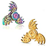 Phoniex Fidget Spinners Toys 2 Pack Metal Dragon Finger Hand Spinner Gifts for Adults and Kids,Anti Anxiety ADHD Stress Relief Desk Toy, Fingertip Gyro Spinning Top Toys Cool Mini Gadget Novelty Gift