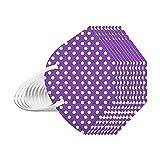 RUITOTP 10/25/50/100Stück Erwachsene Mund und Nasenschutz Multifunktionstuch Waschbar Wiederverwendbar Atmungsaktiv Bunt Polka Dots Halstuch