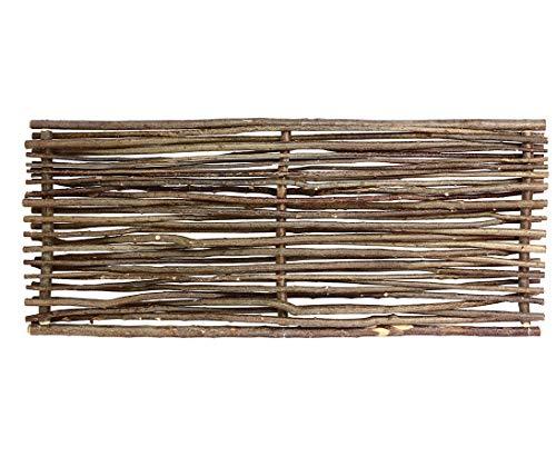 bambus-discount.com Sichtschutz Haselnuss Zaun Sommer mit 180 x 115 cm - Sichtschutzzaun