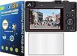 3 x Panasonic Lumix DMC-ZS40 DMC-TZ60 GuarmorShield para cámara Digital anti-antirreflectante y-y antihuellas acabado mate Protector de pantalla para Kit de placa para (no requiere, GUARMOR Brand)