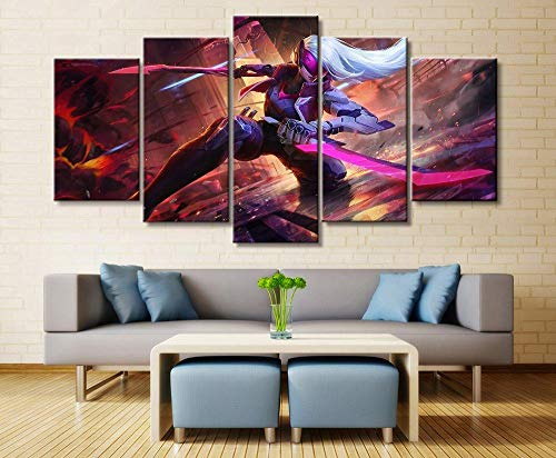 WEMUR 5 Panel Spiel Leinwand Gedruckt Malerei Für Wohnzimmer Wandkunst Dekor HD Bild Kunstwerke Poster, Unframed 40X60 40X80 40X100cm
