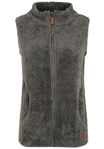 OXMO Theri Damen Weste Fleece Outdoor Weste, Größe:S, Farbe:Castlerock (799486)