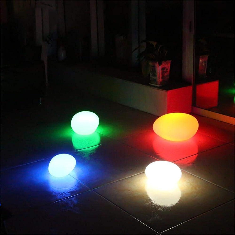 Chenyaohaiyu Stimmungslicht Fernbedienung Nachtlicht LED Steinform Farbe Kopfsteinpflaster Outdoor Garten Rasen Szene Dekoration Lampe Schlafzimmer Tischlampe [Energieklasse A ++]