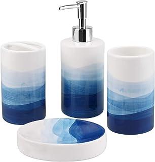 Amazon Com Blue Bathroom Accessory Sets Bathroom