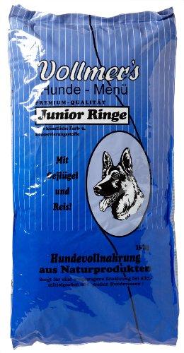 Vollmer's Hundefutter Junior Ringe, 15 kg