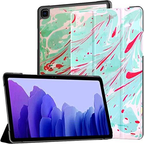 Funda para Tableta Samsung A7 Obra de Arte única Funda de patrón líquido con Textura de mármol para Samsung Galaxy Tab A7 10.4 Pulgadas Funda Protectora de liberación 2020 Funda Samsung Galaxy A7 Fun