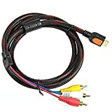 DSHS Cable adaptador de HDMI macho a RCA de audio AV Componente
