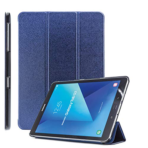 COOVY® Ultra Slim Cover für Samsung Galaxy Tab S2 9.7 SM-T810 SM-T813 SM-T815 SM-T819 Smart Schutzhülle Hülle Hülle mit Standfunktion & Auto Sleep/Wake up   dunkelblau
