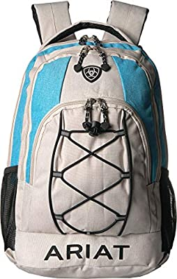 Ariat Backpack w/Bungy Cord Front Grey/Blue One Size