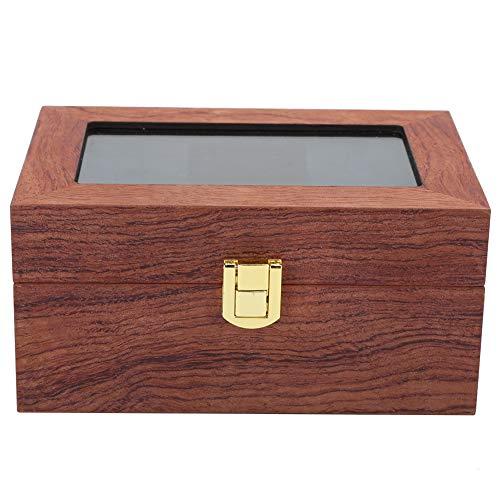 Nunafey Organizador de Cajas de Reloj para Hombres, Caja de Reloj, Ventana Transparente para Guardar el Reloj para Hombres
