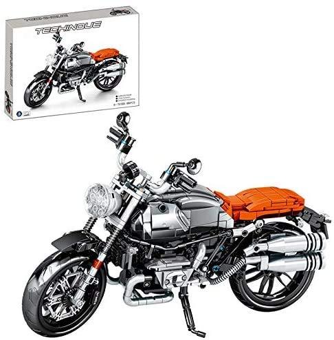 YZHM Técnica 1, 6 Bicicletas Building Blocks Set, Compatible con Lego Technic - 242 Piezas,BMW R Nine-t