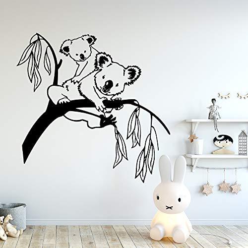 wZUN 2pcs Cute Koala Wall Decal Vinyl Wall Decal 28X29cm