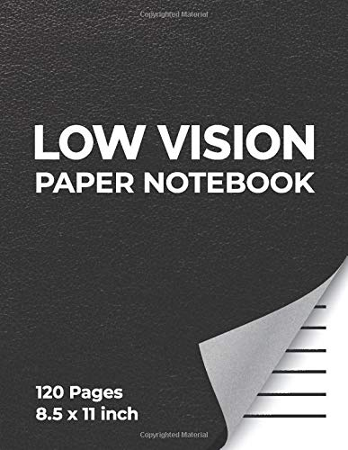 Low Vision Paper Notebook With Bold Lines Aids For Visually Impaired