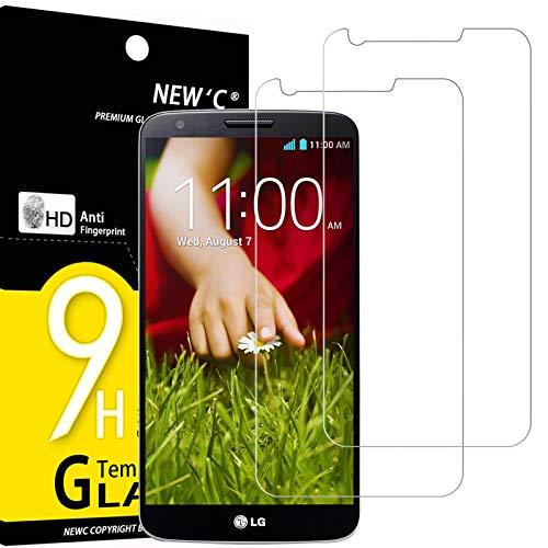 NEW'C 2 Stück, Schutzfolie Panzerglas für LG G2, Frei von Kratzern, 9H Festigkeit, HD Bildschirmschutzfolie, 0.33mm Ultra-klar, Ultrawiderstandsfähig