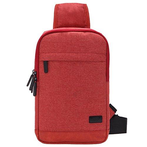 Sac de Poitrine nylon de voyage respirable portablegrande capacité hommes dames sacs Messenger Bag Sling bag , orange