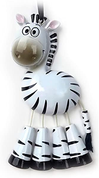 Personalized Forest Animals Christmas Tree Ornament 2019 Cute Black White Zebra Dangling Legs Zoo Collection Adventure Toy Costume Africa Stripe Horse Gift Year Free Customization