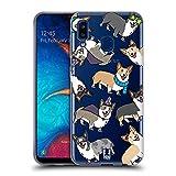 Head Case Designs Corgi Dog Breed Patterns Soft Gel Case Compatible for Samsung Galaxy A20 / A30 (2019)