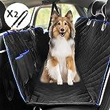 Youfen Manta para perros para el asiento trasero del coche, para mascotas, para el maletero del coche, para el asiento trasero del coche, impermeable con ventana, para coche y SUV (azul)
