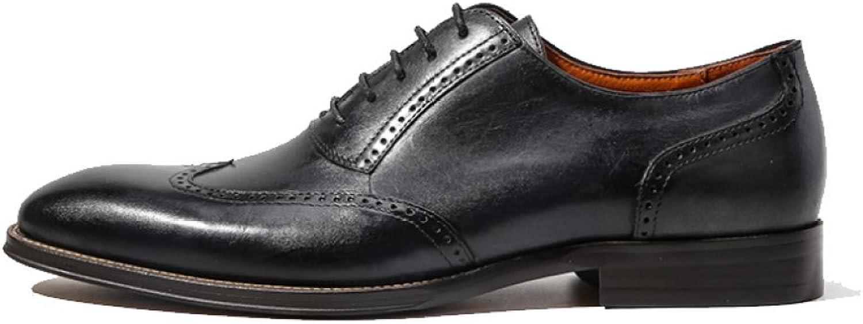 Brock Carved England Herrenschuhe Business Atmungsaktive Oxford Schuhe Hochzeitsschuhe Schnürschuhe