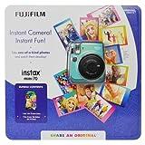 Fujifilm Instax Mini 70 - インスタントフィルムカメラ(ミント)。